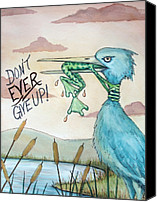 Inspirational Painting Canvas Prints - Do Not Ever Give Up Canvas Print by Joey Nash