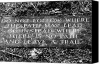 Gatlinburg Canvas Prints - Do Not Follow Where The Path May Lead Canvas Print by Susie Weaver