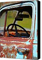 Old Trucks Canvas Prints - Do You Need A Ride- Fine Art Canvas Print by KayeCee Spain