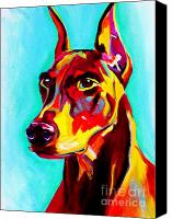 Pinscher Canvas Prints - Doberman - Prince Canvas Print by Alicia VanNoy Call