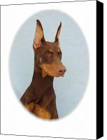 Doberman Prints Canvas Prints - Doberman Pinscher 270 Canvas Print by Larry Matthews