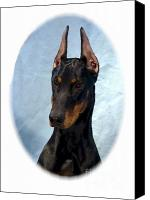 Doberman Prints Canvas Prints - Doberman Pinscher 314 Canvas Print by Larry Matthews