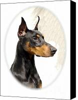 Doberman Prints Canvas Prints - Doberman Pinscher 437 Canvas Print by Larry Matthews