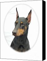 Doberman Prints Canvas Prints - Doberman Pinscher 484 Canvas Print by Larry Matthews
