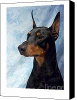 Doberman Prints Canvas Prints - Doberman Pinscher 502 Canvas Print by Larry Matthews