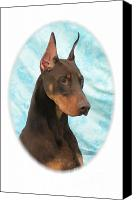 Doberman Prints Canvas Prints - Doberman Pinscher 677 Canvas Print by Larry Matthews