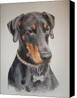 Dobermann Canvas Prints - Dobermann Canvas Print by Keran Sunaski Gilmore