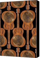 Wood Digital Art Canvas Prints - Dobro 4 Canvas Print by Mike McGlothlen