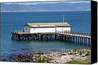 Boardwalks Photo Canvas Prints - Dock At Point Reyes Calfornia . 7D16070 Canvas Print by Wingsdomain Art and Photography