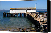 Boardwalks Photo Canvas Prints - Dock At Point Reyes Calfornia . 7D16073 Canvas Print by Wingsdomain Art and Photography