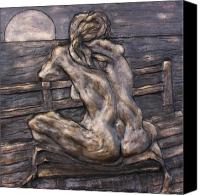 Female Nude Ceramics Canvas Prints - Dock of the Bay Canvas Print by Dan Earle