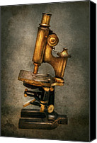 Brass Canvas Prints - Doctor - Microscope -  The start of modern science Canvas Print by Mike Savad