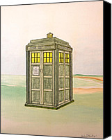 Tardis Canvas Prints - Doctor Who Tardis Canvas Print by Gordon Wendling