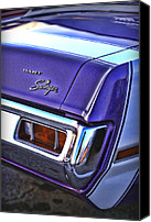 Purple Car Canvas Prints - Dodge Dart Swinger Canvas Print by Gordon Dean II