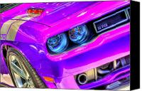 Purple Car Canvas Prints - Dodge Canvas Print by Joshua Ball