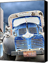 Old Trucks Canvas Prints - Dodge pickup. With camper. Venice. Canvas Print by Joe Schofield