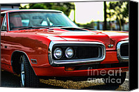 Mango Canvas Prints - Dodge Super Bee classic red Canvas Print by Paul Ward