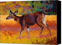 Buck Canvas Prints - Doe III Canvas Print by Marion Rose