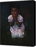 Girls Pastels Canvas Prints - Does Jesus Love Me Canvas Print by Curtis James