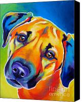 Dog Art Canvas Prints - Dog - Puppy Dog Eyes Canvas Print by Alicia VanNoy Call