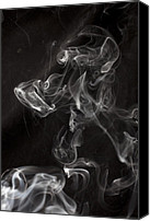 Swirl Canvas Prints - Dog Smoke Canvas Print by Garry Gay