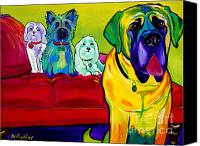 Maltese Canvas Prints - Dogs - Droolers Get The Floor Canvas Print by Alicia VanNoy Call