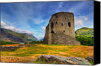 Ancient Digital Art Canvas Prints - Dolbadarn Castle  Canvas Print by Adrian Evans