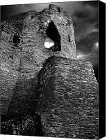 Castle Pyrography Canvas Prints - Dolbadarn castle Canvas Print by Duncan Rowe