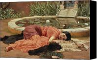 Lillies Canvas Prints - Dolce Far Niente Canvas Print by John William Godward