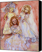Susan Hanlon Canvas Prints - Doll Fancy Canvas Print by Susan Hanlon