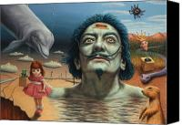 Surreal Landscape Canvas Prints - Dolly in Dali-Land Canvas Print by James W Johnson