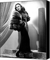 Del Rio Photo Canvas Prints - Dolores Del Rio, 1937 Canvas Print by Everett