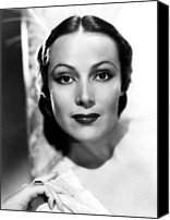 Del Rio Photo Canvas Prints - Dolores Del Rio, Ca. 1930s Canvas Print by Everett
