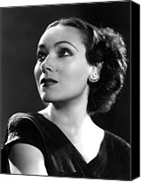 Del Rio Photo Canvas Prints - Dolores Del Rio, Ca. 1935 Canvas Print by Everett
