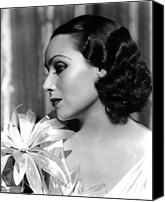 Del Rio Photo Canvas Prints - Dolores Del Rio, Portrait Ca. 1934 Canvas Print by Everett