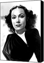 Del Rio Photo Canvas Prints - Dolores Del Rio, Portrait Ca. 1940 Canvas Print by Everett