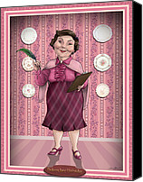 Illustration Canvas Prints - Dolores Jane Umbridge Canvas Print by Christopher Ables