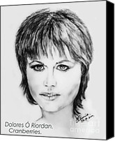 Irish Rock Band Canvas Prints - Dolores O Riordan   Cranberries Canvas Print by Liam O Conaire