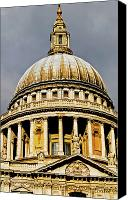 Christopher Wren Canvas Prints - Dome of St. Pauls Cathedral Canvas Print by Christi Kraft