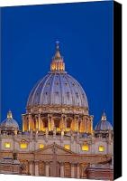 Vatican Canvas Prints - Dome San Pietro Canvas Print by Brian Jannsen