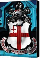 Coat Of Arms Canvas Prints - Domine Dirige Nos Canvas Print by John Rizzuto