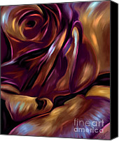 Blue Rose Prints Canvas Prints - Donnybrook Rose Canvas Print by Michelle Wrighton