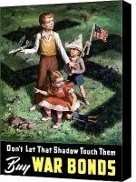World War I Digital Art Canvas Prints - Dont Let That Shadow Touch Them Canvas Print by War Is Hell Store