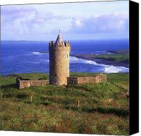 Doonagore Tower Canvas Prints - Doonagore Castle, Co Clare, Ireland Canvas Print by The Irish Image Collection