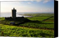 Doonagore Tower Canvas Prints - Doonagore Castle co.Clare Ireland Canvas Print by Pierre Leclerc