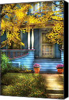 Fall Scenes Canvas Prints - Door - Gorgeous Victorian  Canvas Print by Mike Savad