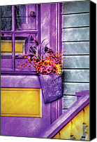 Clinton Photo Canvas Prints - Door - Lavender Canvas Print by Mike Savad