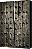Grid Canvas Prints - Door detail Canvas Print by Elena Elisseeva