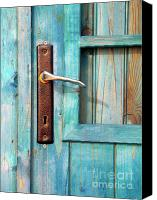 Entrance Canvas Prints - Door Handle Canvas Print by Carlos Caetano