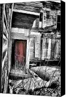 Old Houses Canvas Prints - Door in Purple Canvas Print by Emily Stauring